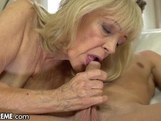 21Xtreme Horny Granny Rides Young Stallions Throbbing Cock