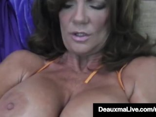 Hot Blooded Cougar Deauxma Dildo Fucks Her Pussy & Amp; Squirts!