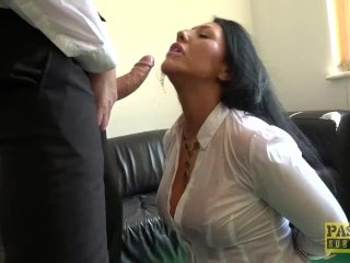 Candi Kayney Gets Her Throat Fucked And Gets A Mouthful Of Cum
