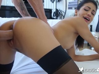 Exotic4K Big Dick Stretches Dripping Latin Pussy Veronica Rodriguez