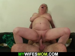 Busty Mother In Law Rides His Cock