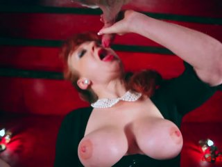 Sexy Milf Red Takes A Huge Load On Her Breasts