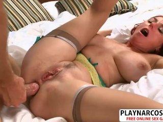 Sexy Stepmom Karen Kougar Ride Cock Good Tender Son Friend