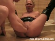 Fisting and pissing on my slut wife