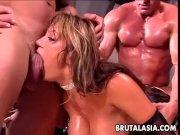 Ava Devine gets a brutal DP drilling