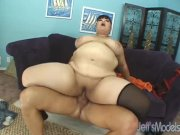 Asian Kelly Shibari gets her fat pussy filled