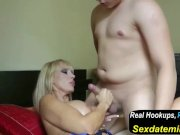 MILF Mother Seduce 18yr Old Young Boy with Bi
