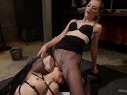 Interrogation Training: Sadistic lesbian detective fucks deputy!