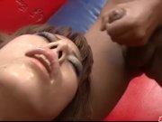 Rui Shiina gets jizzed on face during toy por