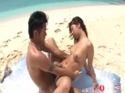 Gorgeous petite Japanese Teen in public beach