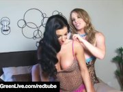 Busty Maggie Green & Brianna Jordan Toy Their Horny Pussies!