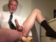 Hot Daddy Jerking And Fucking Him Self