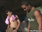 Two hot  Latino Gays Steamy Bareback Sex