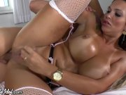 Horny Girl Anally Raw Dogged by Busty TS and Guy