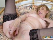 EuropeMaturE Older Mature Lady Solo Striptease
