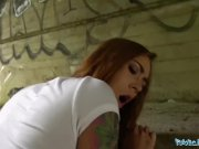 Public Agent Horny tattooed minx bent over and fucked outdoors