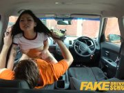 Fake Driving School Sexy Japanese Rae Lil Black hot for instructors cock
