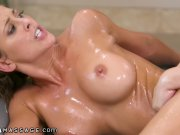 NuruMassage Valentina & Cherie Shower & Scissor in Nuru Gel