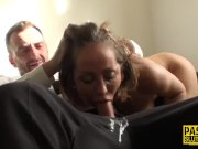 Dominated milf throated