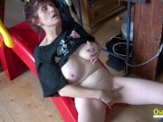 OldNannY Horny Mature Woman Solo Fingering