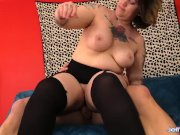 Inked Plumper Hottie Nova Jade Gets Her Pussy Teased and Stretched