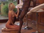 BLACK4K. Impressive lady Shanie Ryan in short dress needs