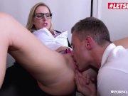 LETSDOEIT - Busty British Blonde Georgie Lyall Has Intense Sex With Teacher