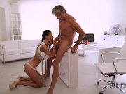 OLD4K. Tricky secretary seduces mature boss to get another promotion