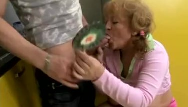 Kiddy granny helps her grandson her way