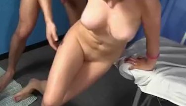 brunette in oil fuck hard and finish on the f