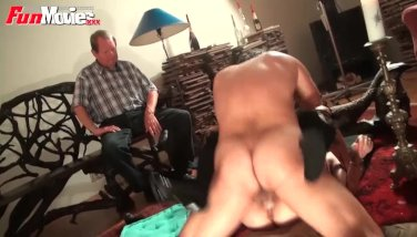 FunMovies Cuckold husband watching his girl