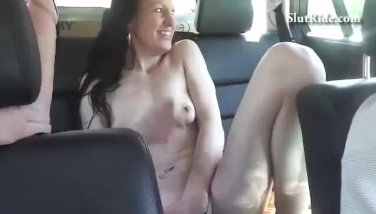 Czech MILF does BJ and gets licked in Taxi