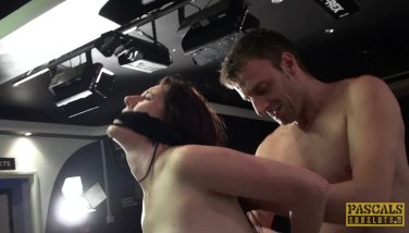 Samantha Bentley tied up, throated & doggied