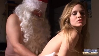 Old Santa gets young pussy sweets from cutie