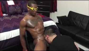Sucking Straight Black Monster Cock