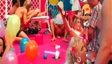 Bi sex dolls gets fucked in the club