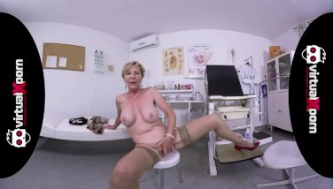 naughty blonde granny who waits for her doctor
