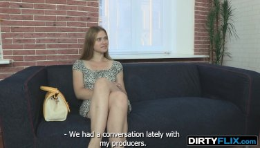 Dirty Flix - Emma - Blondy with a perfect ass in a tiny dress!