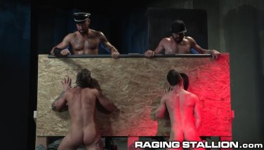"RagingStallion I Said ""Suck That Dick & Spit On It"" Through Glory Hole"