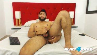 Ecio Murphy Flirt4Free - Hairy Dude Fingers His Ass and Cums