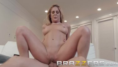 Brazzers - Step mom Cherie Deville shows son some support