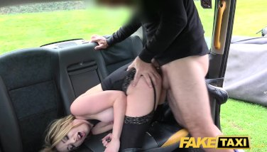 Fake Taxi Butt plug & cock stretch hot babe Valerie Fox arse on backseat