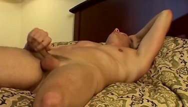 Sweet perv Alex Strauss pissing before masturbation