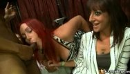Girls taking cock at parties Babes take on a huge black cock