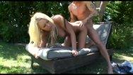 Nude panty hose Poolside cum hose