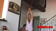 Teen hangs self Hanka is hanged spanked and teased
