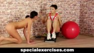 Nude exercise clips Nude bdsm training for teen hottie