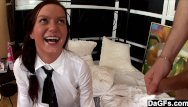Learn how to finger his anal - Schoolgirl learns how to suck cock