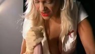 Free glove handjob clips Nurse in latex gloves gives a handjob