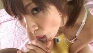 Teen slurping cock Rika hayama sucks a cock